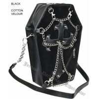 Black Coffin Shaped Handbag by Jordash/ Darkstar Clothing