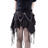 Dead Threads Gothika Skirt Purple & Black