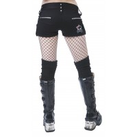 Black Bondage Hot Pant Shorts by Dead Threads