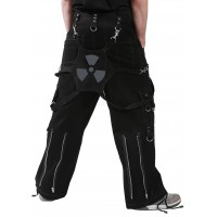 Men's Black RadioActive Baggy Bondage trousers by Dead Threads