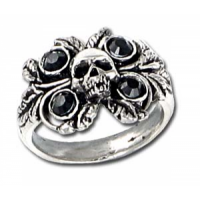 Bride of Corinth Skull Pewter Ring by Alchemy Gothic