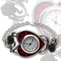 Bed of Blood Roses Bracelet Watch by Alchemy Gothic