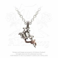 Tatto Gun Necklace Pendant by Alchemy Gothic