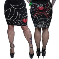 Web Heart Pencil Skirt by Kreepsville666